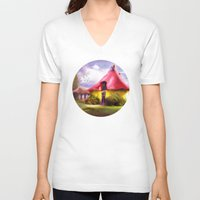 once upon a  time V-neck T-shirts featuring Once upon a time by VIAINA