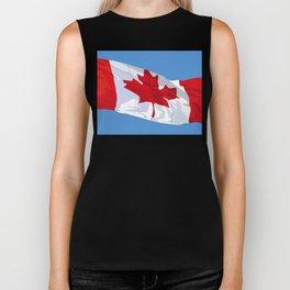 CANADIAN FLAG 01. Biker Tank