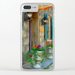 A Victorian Tea Room Clear iPhone Case