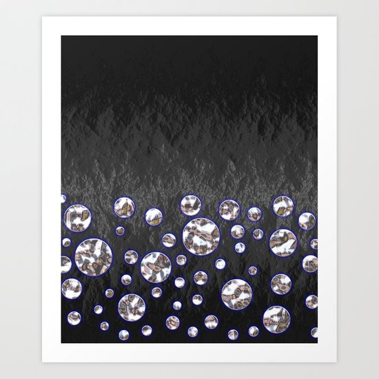 Asteroid Belt of Silver Moons Art Print