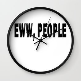 Eww, People Wall Clock