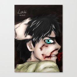 Eren Bashing Canvas Print