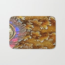 Opalized Sutured Ammonite Bath Mat