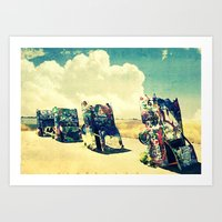 CADILLAC RANCH  revisited Art Print