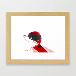 Lipstick Coffee Framed Art Print