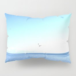 Lake Ontario: Seagulls & Sailboats Pillow Sham