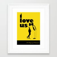 500 days of summer Framed Art Prints featuring 500 days of Summer by Renata Scartoni