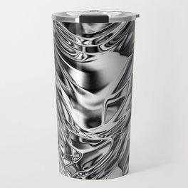 Silver Molten Metal Travel Mug
