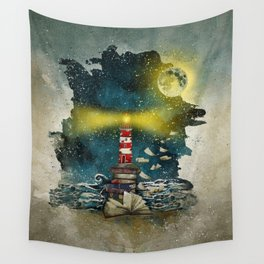 the sea is poetry Wall Tapestry