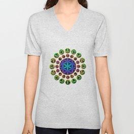 The Flower of Life (Sacred Geometry) 4 Unisex V-Neck
