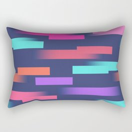 Abstract colorful sripes Rectangular Pillow