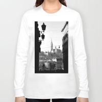 budapest Long Sleeve T-shirts featuring Budapest by Lena Karafelova