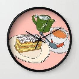 Aftenoon Cake Treat Wall Clock