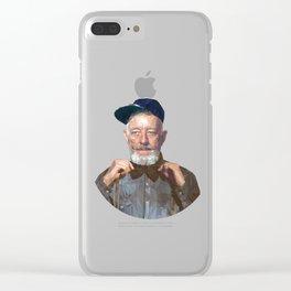 Urban-Wan Kenobi / Gold Clear iPhone Case