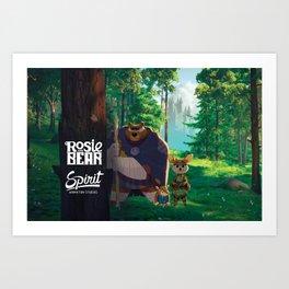 Rosie and Bear Art Print
