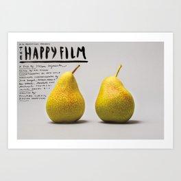 Happy Film  - Pears Art Print