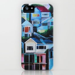 Whale in the City iPhone Case