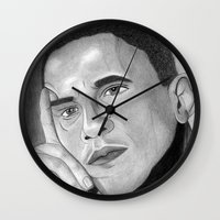 obama Wall Clocks featuring Obama  by Lupo Solitario