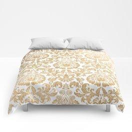 Gold foil swirls damask 16 Comforters