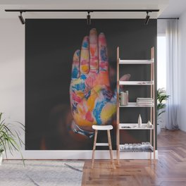 Colored hand Wall Mural