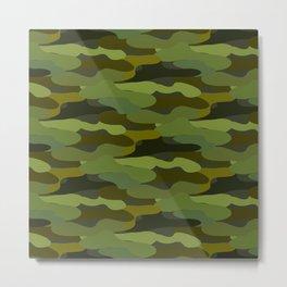 Khaki camouflage Metal Print