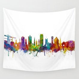Plymouth England Skyline Wall Tapestry