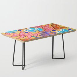 Whimsical Leaves Pattern Coffee Table