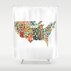 Geometric United States Shower Curtain