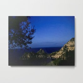 Amalfi Coast - Vintage color photo from 1940's, Italy Metal Print