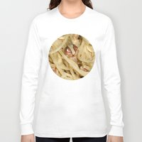 pasta Long Sleeve T-shirts featuring Carbonara Pasta by Anand Brai