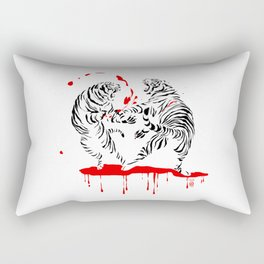 Tora Tora! // (tiger fight) Rectangular Pillow