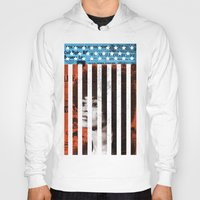 political Hoodies featuring Angela Davis Political Prisoner by Robert John Paterson