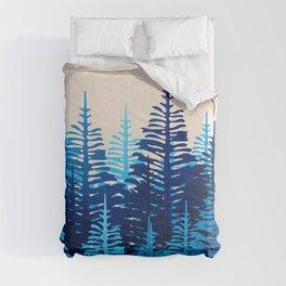 Pine Forest - Blue Light Comforters