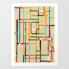 The map (after Mondrian) Art Print