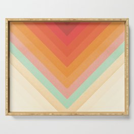 Rainbow Chevrons Serving Tray