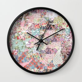 columbus map flowers Wall Clock