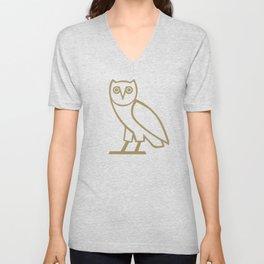 Classic Owl - Black Unisex V-Neck