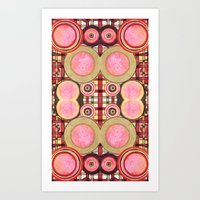Art Print featuring Border 2 G Pattern 2 by Cie Ja