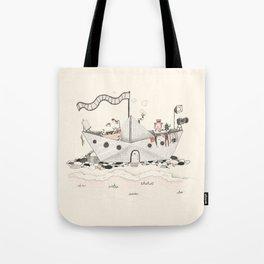 Paper ship Tote Bag