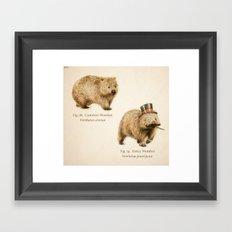 The Fancy Wombat Framed Art Print