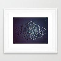 yin yang Framed Art Prints featuring Yin Yang by Elva Salinas