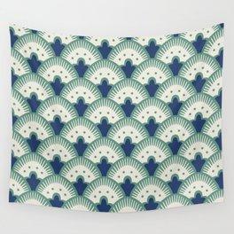 Fan Pattern Blue/Green Wall Tapestry