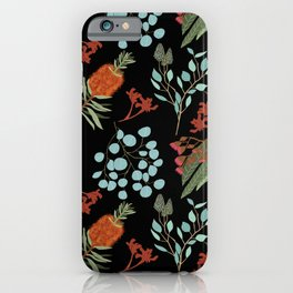 Australian Botanicals - Black iPhone Case