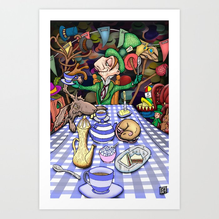 Mad Hatter S Tea Party Art Print By Squaredog Society6