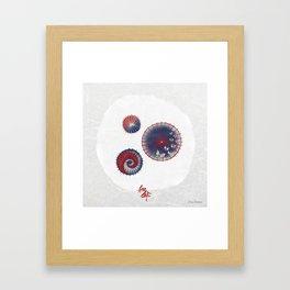 Wagasa (和傘 / Oil-paper umbrella) Framed Art Print