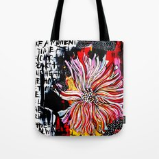big messy flower Tote Bag