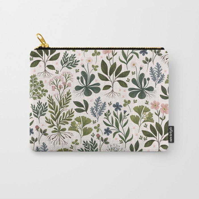 Herbarium ~ vintage inspired botanical art print ~ white Tasche