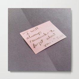 Post-it with Tom Waits Metal Print