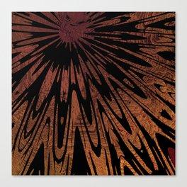 Native Tapestry in Burnt Umber Canvas Print