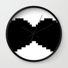 Pixel mustache Wall Clock